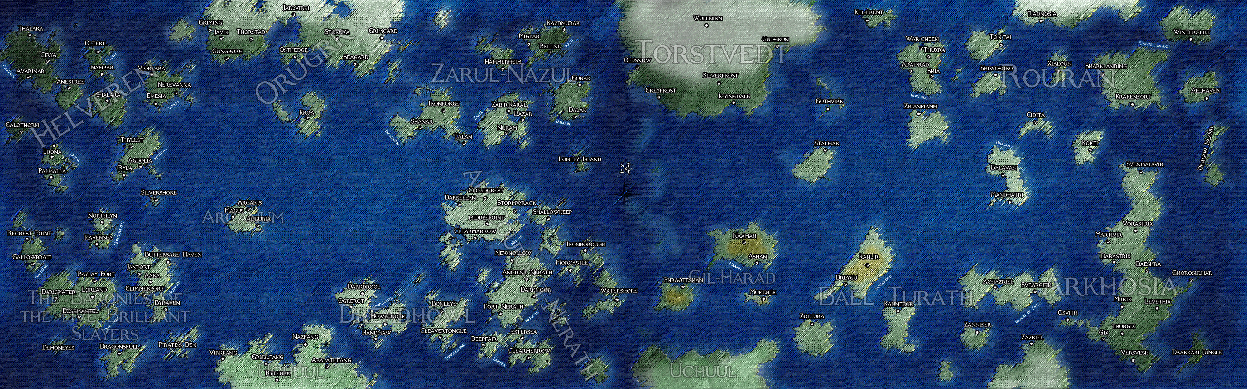 pirate Campaign Map by ThedasScholar
