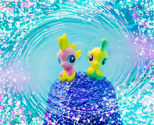 Jelly Bee and Lily Drop caught in the Swirl by AquilaTEagle