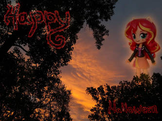 Happy Halloween Sunrise from Sunset by AquilaTEagle
