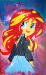 Sunset Shimmer with Phoenix Jacket (Crystal Glow) by AquilaTEagle