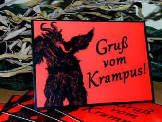 Gruss vom Krampus postcards by SpaceKadettin