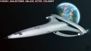 Helios Star Cruiser by MikomDude