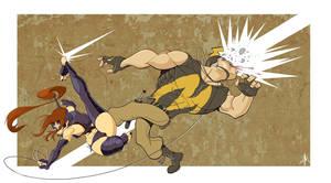 Ninjette's Ninja Kick by YopparattaNoSaru