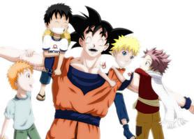 Goku and the JUMP boys by Yana25
