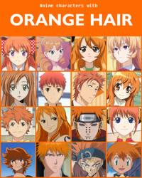 Anime characters with orange hair [V2] by jonatan7