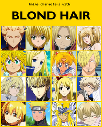 Anime characters with blond hair [V2] by jonatan7