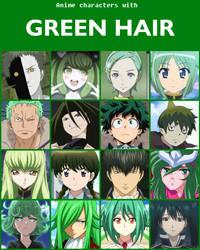 Anime characters with green hair [V2] by jonatan7