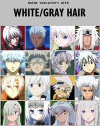 Anime characters with white/gray hair [V2] by jonatan7