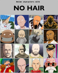 Anime characters with no hair [V2] by jonatan7