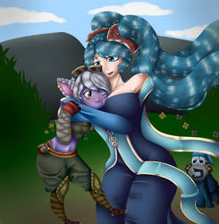 Best botlane EVER ( int and feed yeay ! XD) - Gift by Renarde83