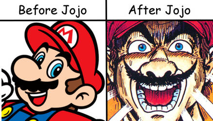 Mario-Before and After Jojo by zigaudrey
