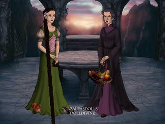 Rapunzel and Mother Gothel by Wickedwitch19
