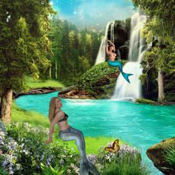 Mermaids by a Glade by Wickedwitch19
