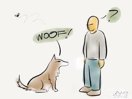 WOOF! ...? by digitalchet