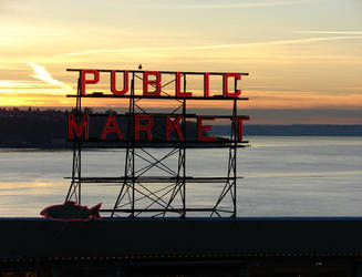 Pike's Place Sunset by movielover44