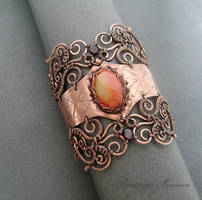bracelet with carnelian by nastya-iv83