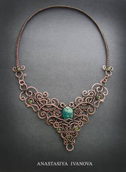 necklace with chrysocolla by nastya-iv83