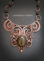 necklace with bronzite by nastya-iv83