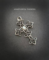 silver cross with opal by nastya-iv83