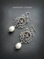Earrings with pearls by nastya-iv83