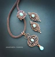 turquoise set by nastya-iv83