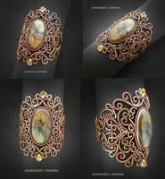bracelet with labradorite by nastya-iv83