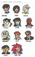 Jackie Chan Adventures Character Sketches by Jennisms