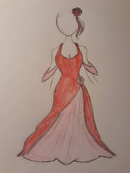 reference drawing: Rosalina's formal dress by EternalNexusWarrior