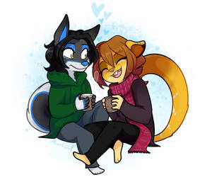 COM: Coffee Couple by MimiMarieT