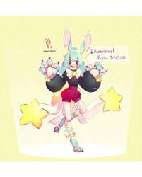 Illusionist bunny rysu - SOLD by TheRainbowBear