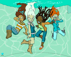I Wish That I Could Be Like the Pool Kids Colored by StaticBubble