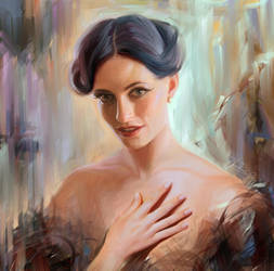 Irene Adler. Lara Pulver by Olga-Tereshenko