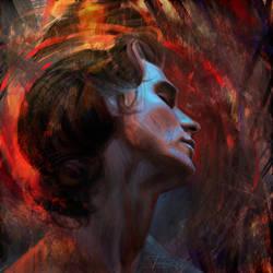Christian Bale by Olga-Tereshenko