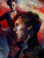 Sherlock and Irene by Olga-Tereshenko