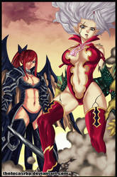 Erza and Mirajane by thelucasrbp