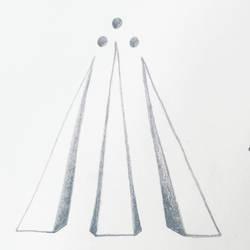 Triangle symbols: Awen by MyrddinDerwydd
