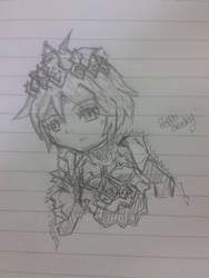 [Blood Brother] Gilgamesh Chibi Sketch =____= by MrPeppoCracky