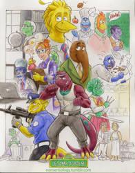 Sesame Academy Staff by nonsensology
