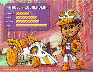 Miguel as a Sugar Rush racer by nonsensology