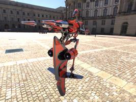 Dark Battle Droid In City - 2 by mech7