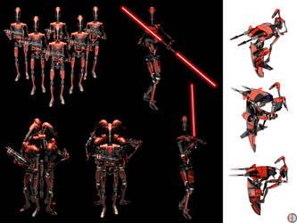 Dark Battle Droid - Total - 3 by mech7