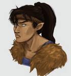 Stupid pouty wolf prince by Sketchlerette