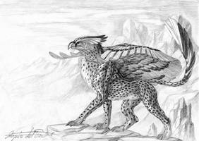 Winged Elegance - A Cheetah Gryphon by lapis-lazuri
