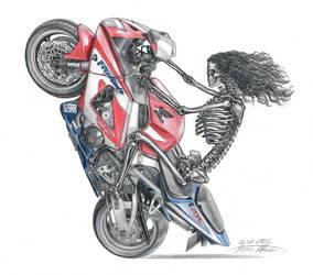Motorbike tattoo by lapis-lazuri