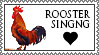 Rooster singing stamp by lapis-lazuri