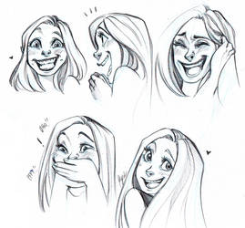 Laughing and Smiling Faces by Myed89