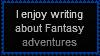 Fantasy Adventures Stamp by LegendaryWriter
