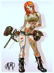 Paintball Girl by Ganassa