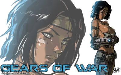 Gears of War:  Samantha 'Sam' Byrne Wallpaper by Ganassa