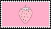 strawberry stamp by goredoq